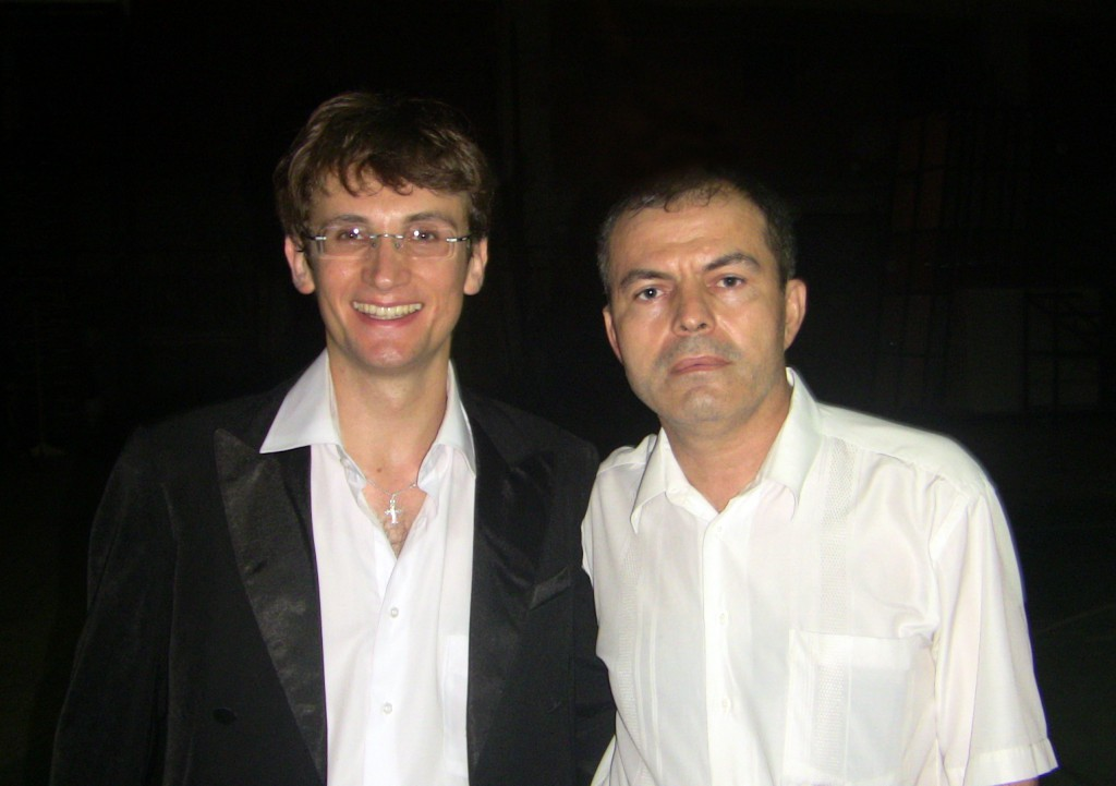 После концерта - слева: Юрий Ильинов, Рамазан Фаталиев
